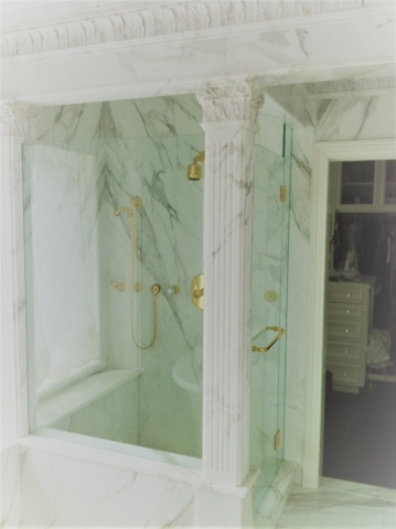 Shower Large Marble Slabs